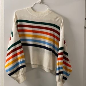 Fantastic Fawn Rainbow Sweater